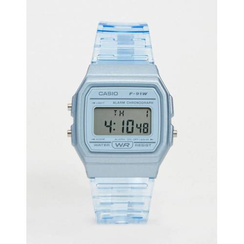 Casio – F-91WS-2EF – Digitale Armbanduhr in Blau No Size