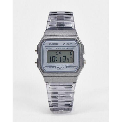 Casio – F-91WS-8EF – Digitale Armbanduhr in Grau No Size