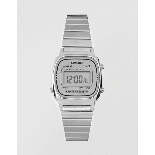 Casio – LA670WEA-7EF – Digitale Armbanduhr in Silber No Size