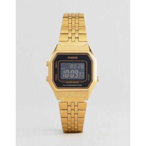 Casio – LA680WEGA-1BER – Digitale Mini-Armbanduhr in Schwarz-Gold No Size