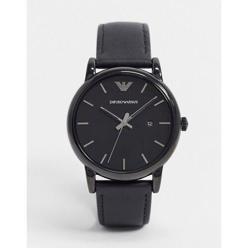 Emporio Armani – Uhr mit Lederarmband, in Schwarz AR1732 No Size