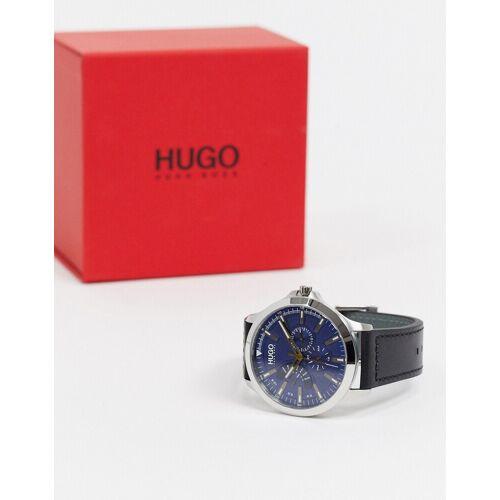 Hugo – 1530172 – Armbanduhr mit Lederarmband in Schwarz No Size