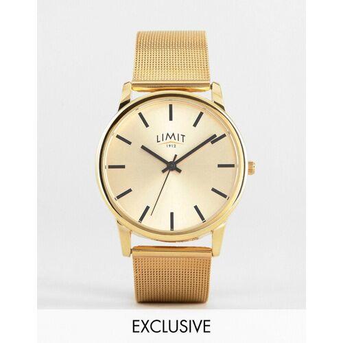 Limit – Netz-Armbanduhr in Gold, exklusiv bei ASOS No Size