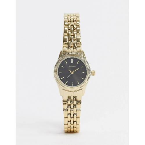 Sekonda – Armbanduhr in Gold mit schwarzem Zifferblatt No Size