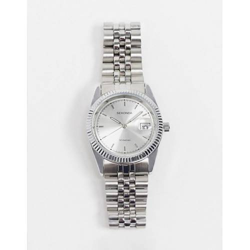 Sekonda – Armbanduhr mit Zifferblatt in Silber No Size