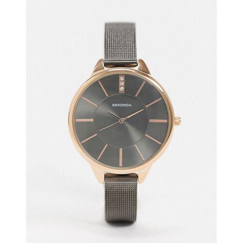 Sekonda – Uhr mit Netzarmband in Grau No Size