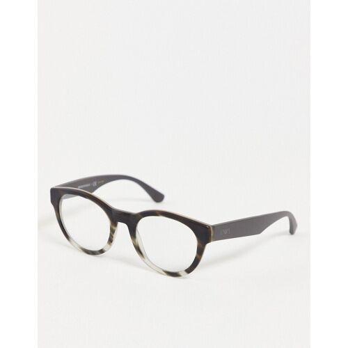 Emporio Armani – Brille mit klaren Brillengläsern-Schwarz No Size