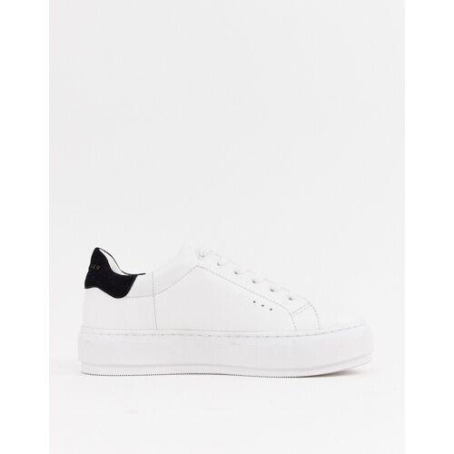 Kurt Geiger London – Laney – Sneaker mit schwarzem Besatz-Weiß 40