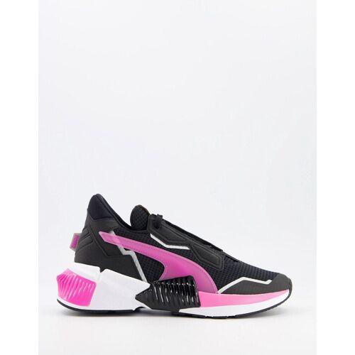 Puma – Provoke XT Wns – Sneaker in Schwarz mit rosafarbenen Details 38