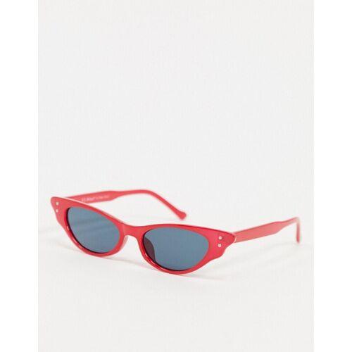 AJ Morgan – Hot Lips – Cat-Eye-Sonnenbrille in Rot No Size
