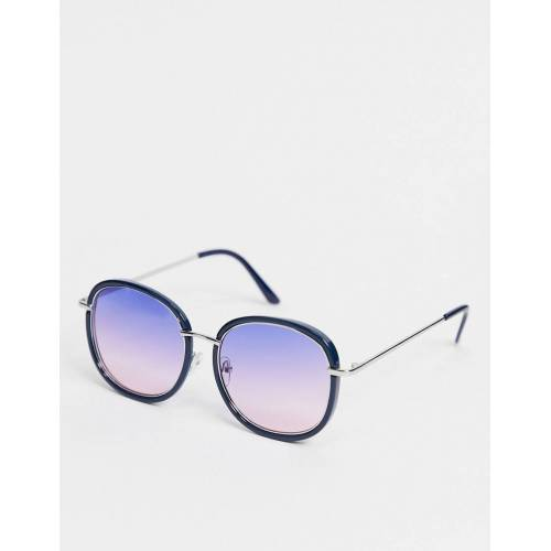 AJ Morgan – Runde Sonnenbrille in Blau No Size