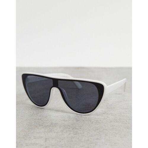 AJ Morgan – Visor-Sonnenbrille in Weiß No Size