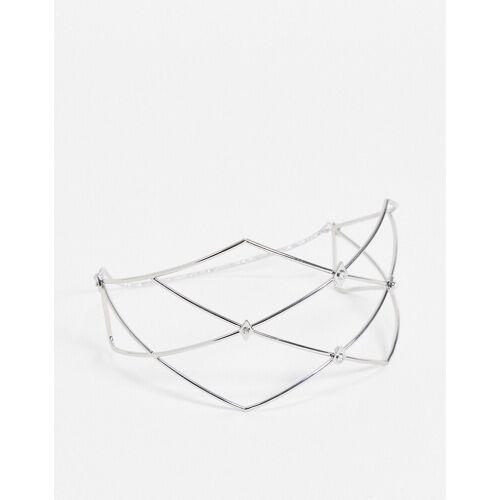 ASOS DESIGN – Silberfarbener Gesichtsschmuck mit Kristallen No Size