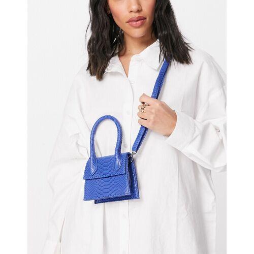 Ego – Mini-Tasche in Kroko-Optik in leuchtendem Blau No Size