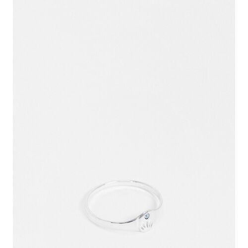 Kingsley Ryan Curve – März – Ring mit Geburtsstein und Aquamarinkristall aus Sterlingsilber R