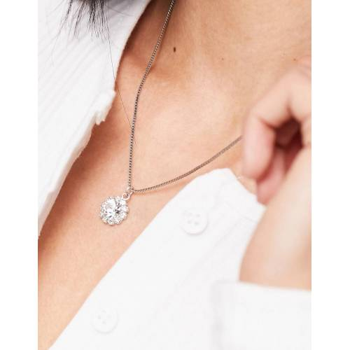 Krystal London Krystal – Kette mit Swarovski-Kristallanhänger-Silber No Size