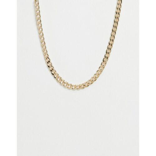 Pieces – Auffällige goldfarbene Halskette One Size