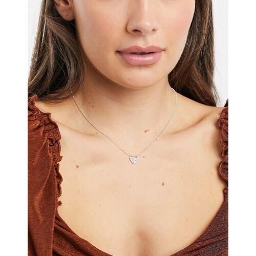 Pilgrim – Versilberte Halskette mit durchsichtigen Kristallen No Size