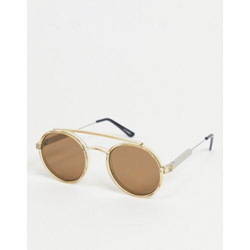 Spitfire – Stay Rad – Unisex-Sonnenbrille in Hellbraun mit braunen Gläsern No Size