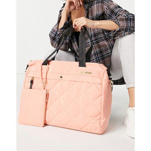 Steve Madden – Condo – Große gesteppte Tragetasche mit gesteppter Tasche in Pfirsich-Rosa One Size