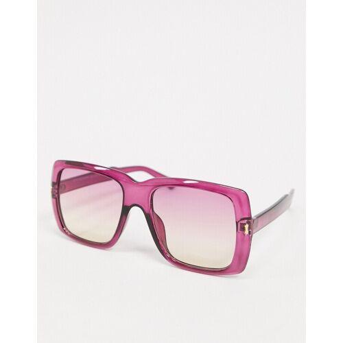 SVNX – Eckige Sonnenbrille in Rosa One Size