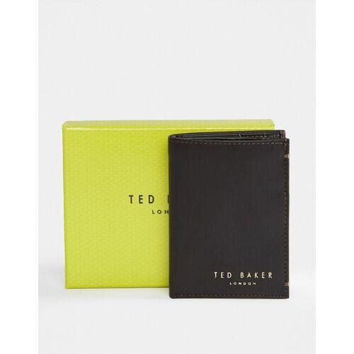 Ted Baker – Zacks – Aufklappbare Geldbörse aus Leder-Braun One Size