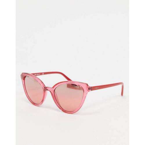 Versace Vogue – Rosa Cateye-Sonnenbrille No Size