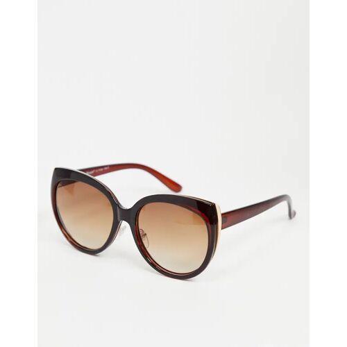 AJ Morgan – Braune Cateye-Sonnenbrille No Size