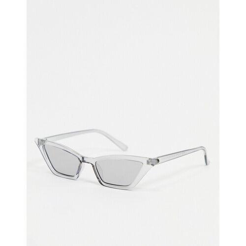 AJ Morgan – Cat-Eye-Sonnenbrille in transparentem Weiß No Size