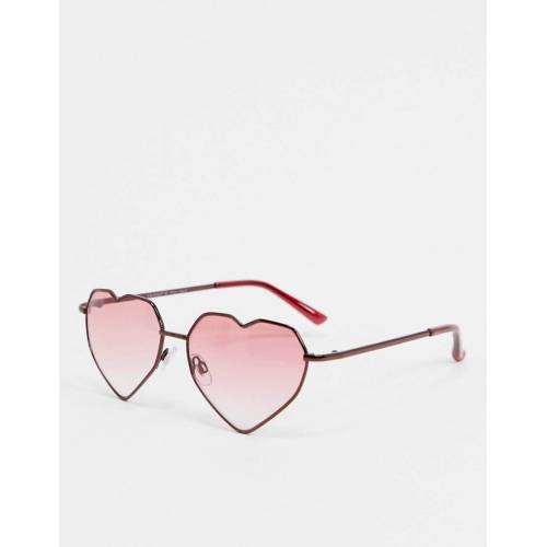 AJ Morgan – Herzförmige Sonnenbrille in Rot No Size