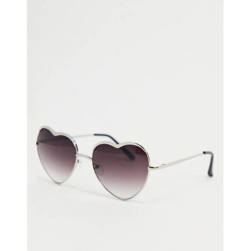 AJ Morgan – Herzförmige Sonnenbrille in Silber No Size