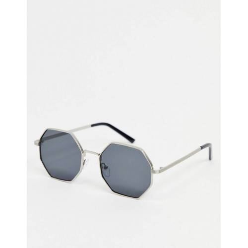 AJ Morgan – Sechseckige Sonnenbrille in Silber No Size
