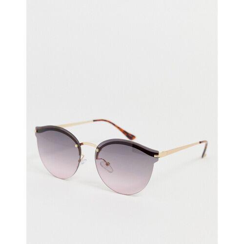 Aldo – Rahmenlose Cateye-Sonnenbrille-Gold No Size