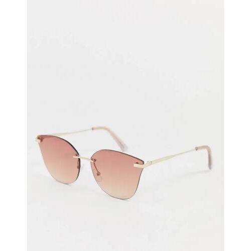 Aldo – Rahmenlose, eckige Sonnenbrille-Gold No Size