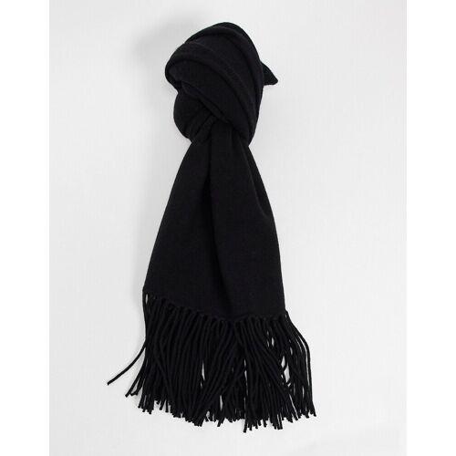 All Saints – Schal aus gekochter Wolle in Schwarz No Size