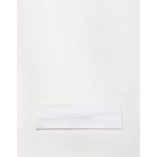 ASOS DESIGN – Breites Jersey-Stirnband in Weiß No Size