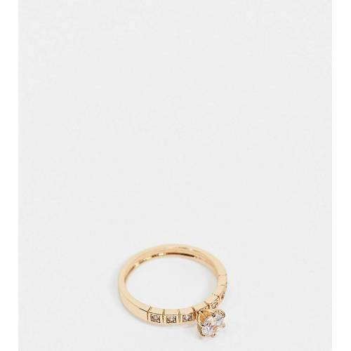 ASOS Curve ASOS DESIGN Curve – Ring in Gold mit Kristallstein XL