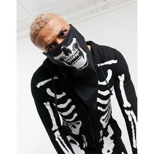 ASOS DESIGN – Halloween – Bandana mit Totenkopf-Print-Schwarz No Size