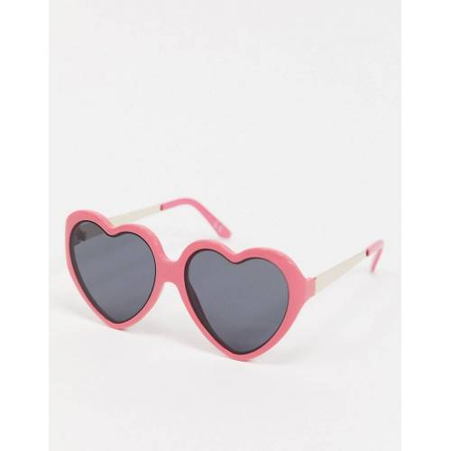 ASOS DESIGN – Herzförmige Sonnenbrille in Pink-Rosa One Size
