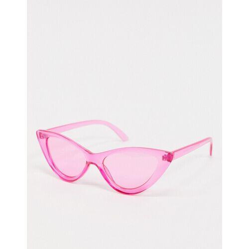ASOS DESIGN – Katzenaugen-Modebrille in Rosa One Size