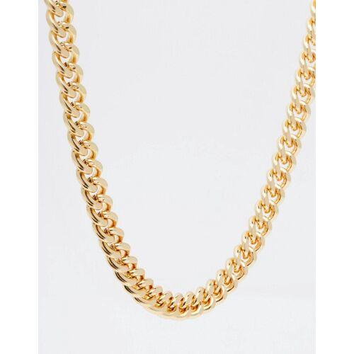 ASOS DESIGN – Mittelschwere, goldfarbene Halskette No Size