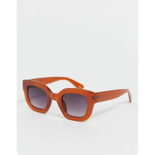 ASOS DESIGN – Robuste Katzenaugen-Sonnenbrille-Braun no size