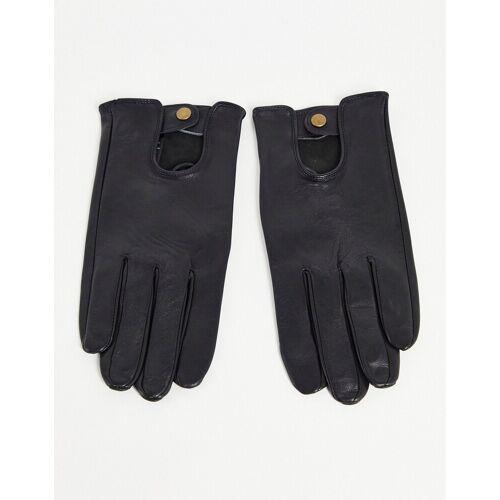 ASOS DESIGN – Schwarze Lederhandschuhe S/M