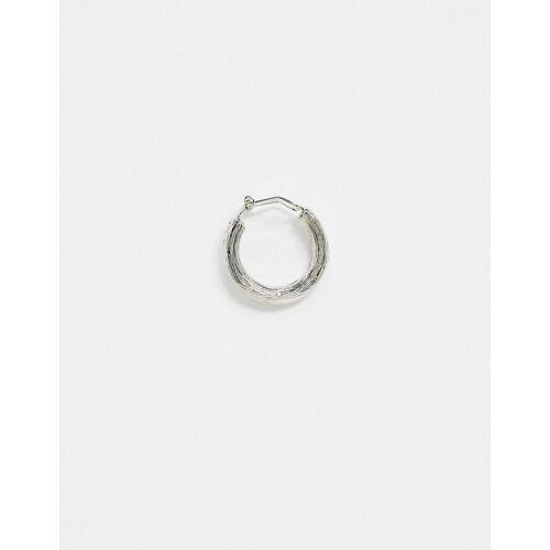 ASOS DESIGN – Strukturierter Ohrschmuck in Silber poliert, 22 mm No Size