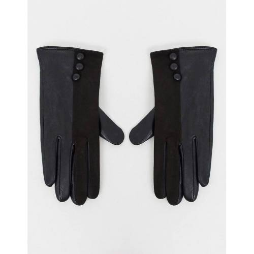 Boardmans – Schwarze Lederhandschuhe M / L