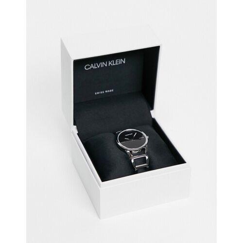 Calvin Klein – Armbanduhr mit schwarzem Zifferblatt One Size