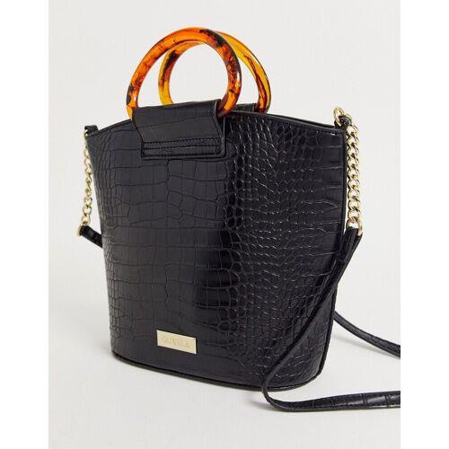 Carvela – Faloo – Schwarze Tasche in Kroko-Optik No Size