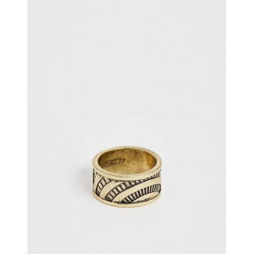 Classics 77 – Gravierter, breiter Ring in Gold S/M