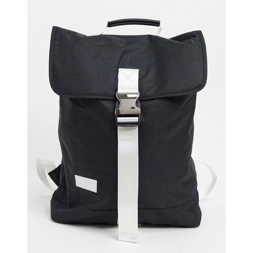 Consigned – Großer schwarzer Rucksack mit Kontrastgurt No Size