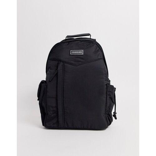 Consigned – Leichter Rucksack aus schwarzem Nylon No Size